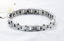 Europe and the United States Stainless Steel Magnet Stone Men Bracelet Chain Link Bangles Bracelets For Women Couple Jewelry