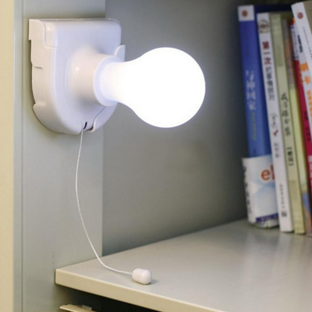 1pc White Stick Up Led Night Lights Cordless Wireless Battery
