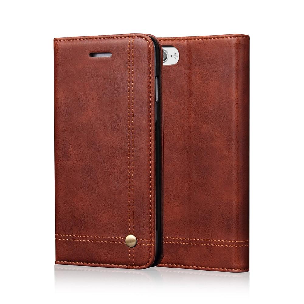 Iphone X 5S SE 6 6S Plus 7 8 Case Cib Çantası Stil Kartı yuvası Iphone 7 Plus üçün Qapaq örtüyü
