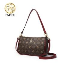 PMSIXแฟชั่นดอกไม้พิมพ์PVCผู้หญิงไหล่กระเป๋าขนาดเล็กผู้หญิงกระเป๋าถือขนาดเล็กCrossbodyกระเป๋าBolsas
