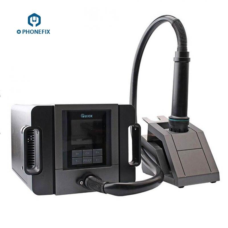 Station de soudure intelligente professionnelle de Station d'air chaud de PHONEFIX QUICK TR1300A pour la réparation de carte mère de téléphone portable