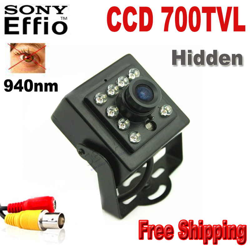 Infrared camera 1/3 Sony CCD 700TVL CCTV Color 10pcs 940nm led Night Vision camera Indoor CCTV Mini ir camera security Camera 1 3 ccd waterproof surveillance security camera with 42 led night vision white dc 12v