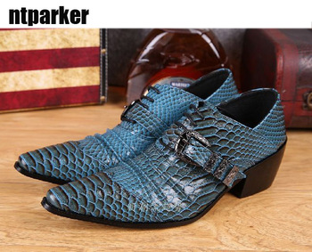 ntparker Korean Man's leather shoes Height Increased pointed shoes stage nightclub bar man's Fashion stylist shoes, Dress shoe!