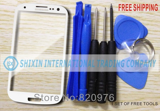 10pcs/Lot Original White Phone LCD Touch Screen Lens Top Glass Replacement For samsung Galaxy S3 i9300 9300+Free Shipping