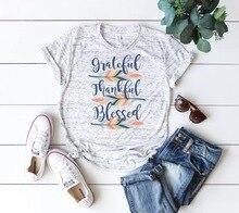 cute women grateful thankful blessed  t-shirts tee top womens fashion female t tops fall shirt