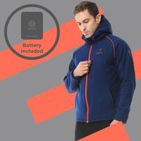 ORORO Для мужчин с подогревом куртка контрастного цвета толстовки Съемный капюшон Электрический Батарея Soft Shell ветровка Водонепроницаемый ул