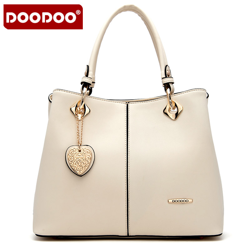 DOODOO 2017 Women handbags Ladies High Quality PU Commuting Ring tote shoulder bag Women's Pouch Bolsas Famous Ladys bucket bag