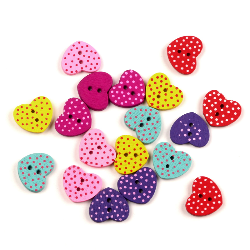 311 10 Pcs Mixed Flower Sewing Wooden Buttons For Children Clothes Decorative
