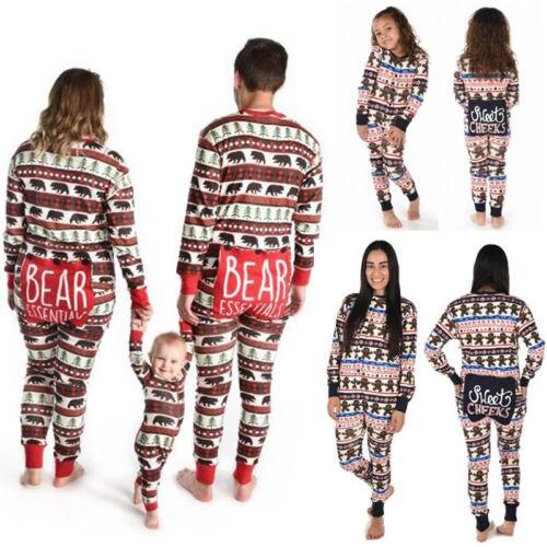e5e0190a1c Family Matching Christmas Pajamas Set Mom Dad Kids Deer Hoodie Zipper  Romper Jumpsuit for Sleepwear Nightwear