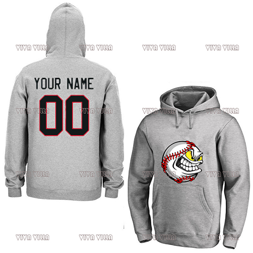 Baseball Hoodie Jersey All Stitched Personality customization Any Name Any Number Hoodies Sports Sweater S-4XL custom men woman youth produce any hockey team size color jerseys sewn on any name number loge home road third embroidery jersey