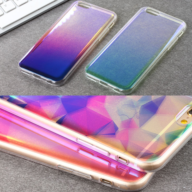 2016 New Arrivals Cell Phone Cases For iPhone 6 6 S Plus <font><b>blu-ray</b></font> Glitter PC+TPU Phone Protection <font><b>skin</b></font> shell