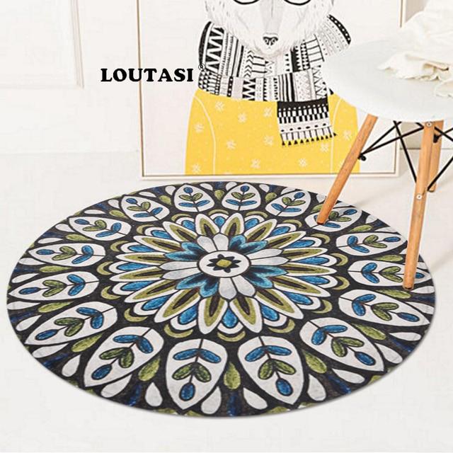 LOUTASI Mandala Rotonda Tappeti di stile india tappeto per soggiorno Camera  Da Letto Complementi Arredo Casa Anti slittamento Del Capretto Tappetini ...