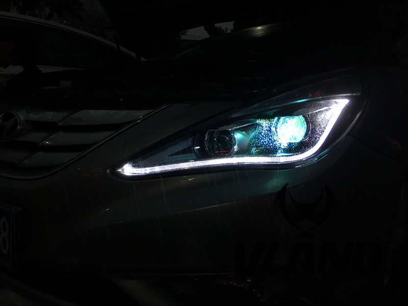 VLAND Factory for Car head lamp for Sonata LED Headlight 2011 2013 2014 for Sonata Head light with H7 Xenon lamp and Day light