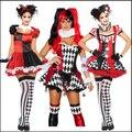 14 Estilos New 2015 Frete Grátis Adulto Clássico Harley Quinn Cosplay Fantasia Traje Trajes de Halloween Para As Mulheres