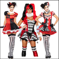 14 Styles New 2015 Free Shipping Adult Classic Harley Quinn Cosplay Costume Fantasia Halloween Costumes For Women