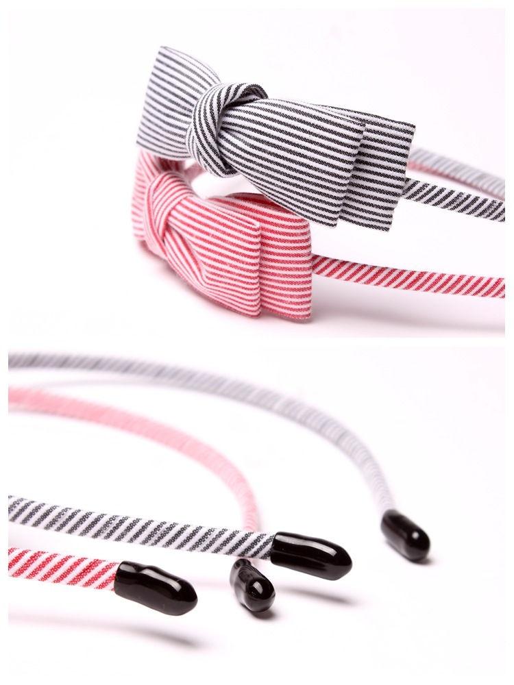 Nueva tela de la raya Scrunchy mujeres niñas Turbante diadema - Accesorios para la ropa - foto 4