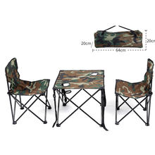 Cool Garden Set 2 Person Chair Table Iron Oxford Fast Shipping Green Thickening Folding Backpack Outdoor Camping Furniture Set(China)