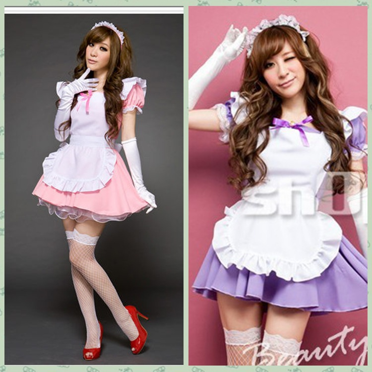 Cost Price Promotions Pink Maid Uniform Maid Cosplay -7439