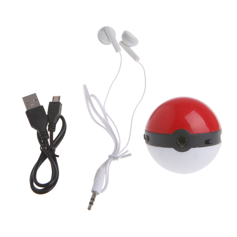 Rechargeable USB 2.0 MP3 Music Player Micro SD TF Card Media Ball Colorful Light