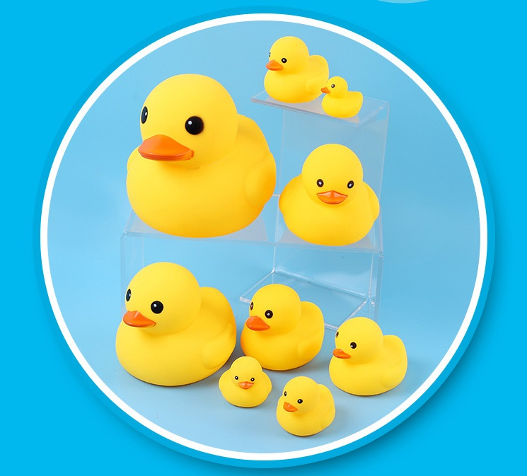 2018 New 10PC Squeezing Call Rubber Duck Ducky Duckie Baby Shower Birthday Favors Kids Toys For Children Playing Fun Drop Ship