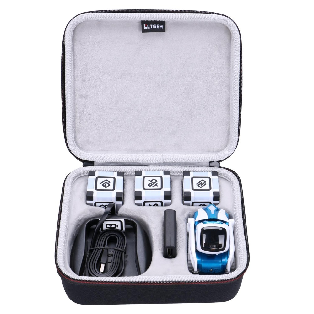 Travel-Case Collector's-Edition Hard-Storage Cozmo Robot-Black Carrying LTGEM for Anki