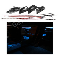 Interior LED Decorative Atmosphere Strip Lights Set With 2 Switchable Light Color For BMW 5 Series