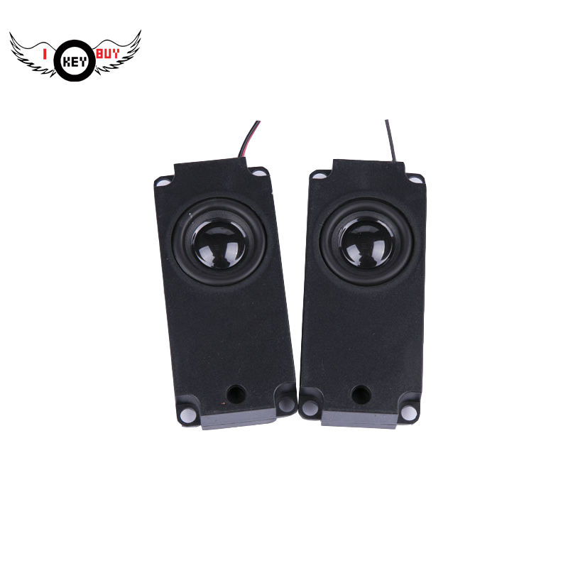 I Key Buy 1 Pair Audio TV Speakers 8 Ohm Full Range Computer Speaker Horn For Laptop TV Speaker image