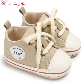 2017 Soft Baby Shoes Retro classic baby non-slip rubber canvas shoes foot toddler shoes  Kids Toddlers Sneakers 0-18 Months