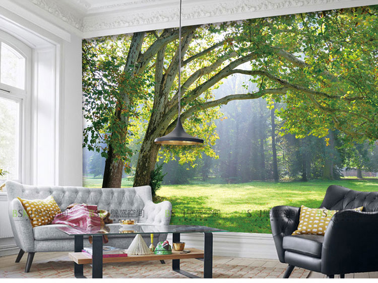 Aliexpress.com : Buy 3D Photo Wallpaper Nature Park Tree Murals Bedroom  Living Room Sofa TV Background Wall Mural Wall Paper From Reliable Paper  Wall Mural ...