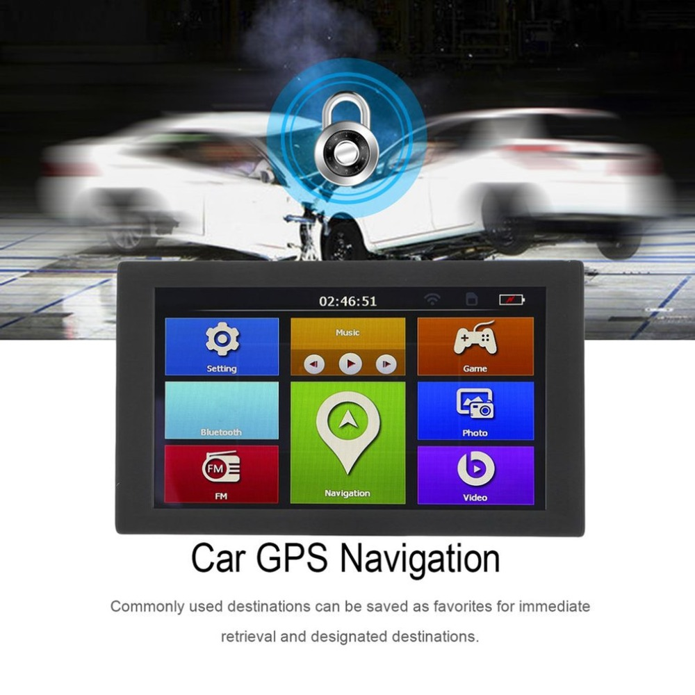Профессиональный 9 S900 автомобиль грузовик HD gps навигации 256 м + 8 ГБ Реверсивный Камера сенсорный FM навигатор точно позиция Черный