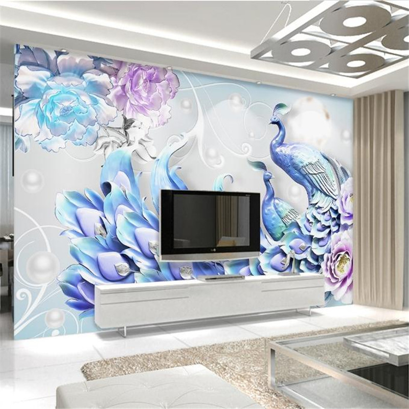 custom 3D HD photo wallpaper relief living room bedroom TV background wall mural luxury florid elegance 3D wallpaper peacock custom baby wallpaper snow white and the seven dwarfs bedroom for the children s room mural backdrop stereoscopic 3d
