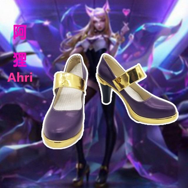 Anime! LOL KDA Ahri Akali Kaisa Evelynn Cosplay Shoes K/DA Boots For Women 2018 Hot Game Custom-made Size Free Shipping 1