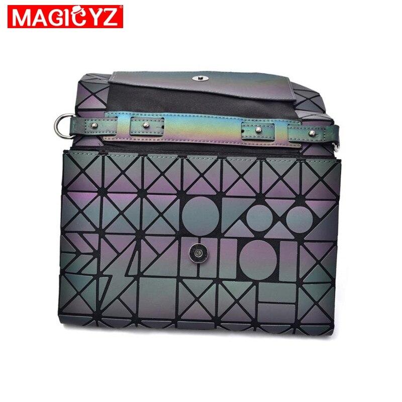 Image 5 - MAGICYZ Crossbody Bag For Women 2018 Fashion Laser Geometric Luminous Women Handbags Purse Clutch Designer Brand Shoulder Bags-in Top-Handle Bags from Luggage & Bags