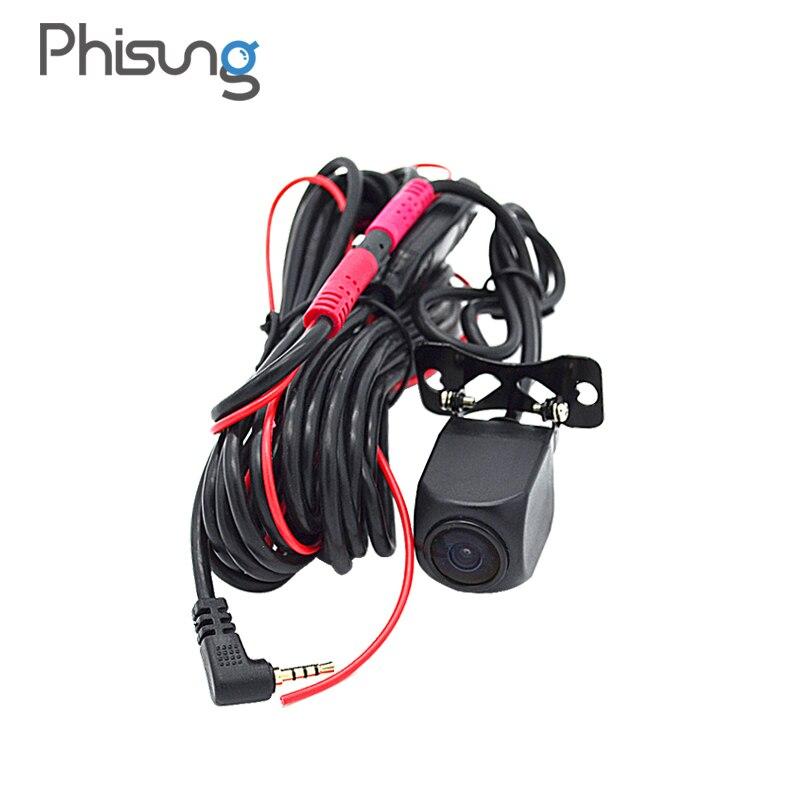 HD Nachtsicht hintere kamera mit 5,7 meter kabel + 0,1 Lux fahrzeug kamera + IP67 Wasserdicht zurück cam für phisung Android Auto DVR