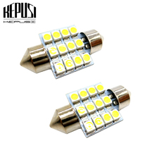 цена на 2x 31mm c5w Festoon LED bulb 3528 Auto Dome Light Car Interior Lamp license plate light light Map light Car Styling DC 12V White