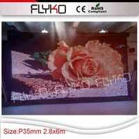 Caso do vôo dj party equipamentos fornecimento de P3.5 mais clara visão display vídeos dimensão projeto cortina do palco 9.18ft * 20ft
