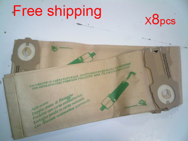 8 pcs/lot  hoover robot vacuum cleaner parts Dust Bags for VK118 VK119 VK120 VK121 VK122 Paper bag garbage bags Free shipping 5 pcs lot vacuum cleaner parts filter garbage bag paper dust bags for electrolux zw1100 e37 e39 z2570 e16 ingenio
