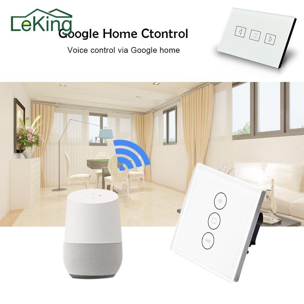 Настенный переключатель для штор для стандартного роликового двигателя с 4 проводами работает с Google Home Alexa Wifi Поддержка управления приложен