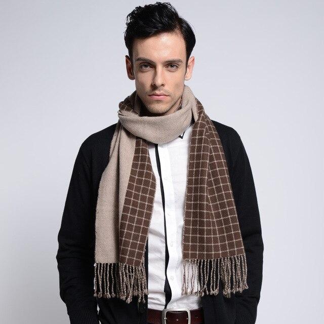 Осень и зима мода мужская Новая Англия Плед Шерстяной Шарф шерсть импортированы теплые шарфы B5011