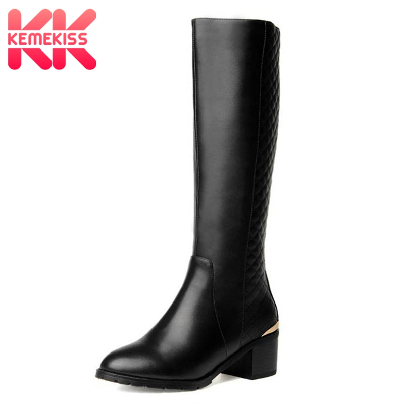 KemeKiss Free shipping half short natrual real genuine leather boots women snow boot high heel shoes R2673 EUR size 33-40 free shipping 95 97 id 108672 108962 size eur 40 46