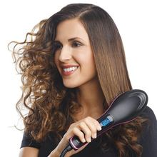 Pro Straightening Irons Electric Hair Straightener Brush Styling Comb Care Auto Massager Simply Fast
