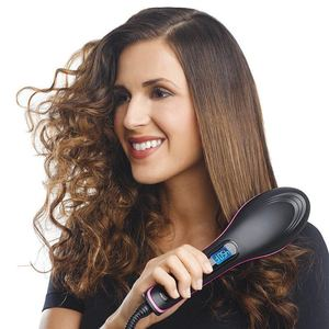 Image 1 - Pro Straightening Irons Electric Simply Hair Straightener Brush Styling Hair Straightener Comb Hair Care Auto Massager Fast Hair