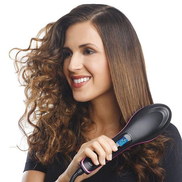 Pro Straightening Irons Electric Simply Hair Straightener Brush Styling Hair Straightener Comb Hair Care Auto Massager Fast Hair