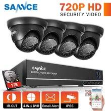 SANNCE 8CH 1080N DVR 1080 P HD NVR CCTV системы 4 шт. 720 TVI камеры безопасности ИК внутренняя и наружная система видеонаблюдения товары теле и видеонаблюдения