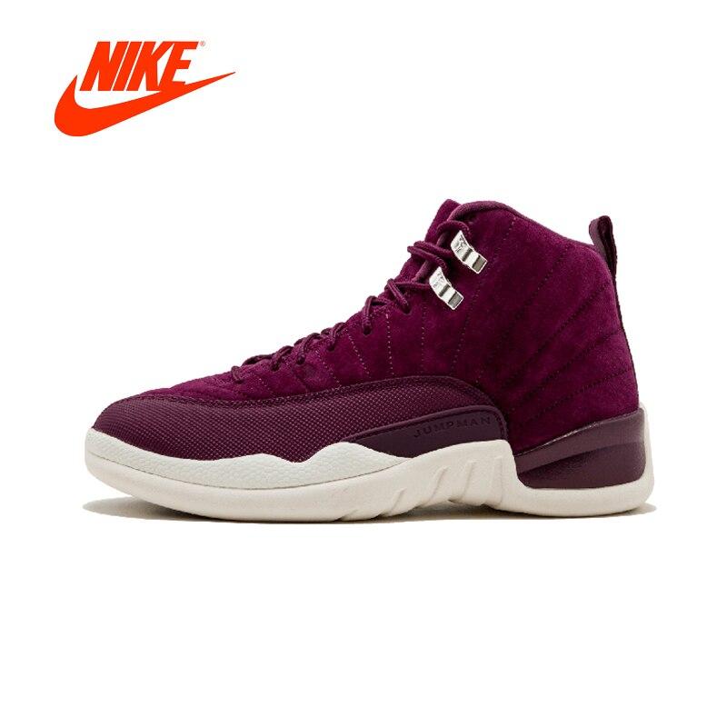 Nueva llegada Original auténtico NIKE Air Jordan 12 zapatos Retro de baloncesto del Mens zapatillas de deporte transpirable al aire libre buena calidad