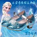 Новый дисней замороженные девочек сандалии принцесса обувь кристалл с блестками высокие каблуки дети Baotou BJD фитинг куклы