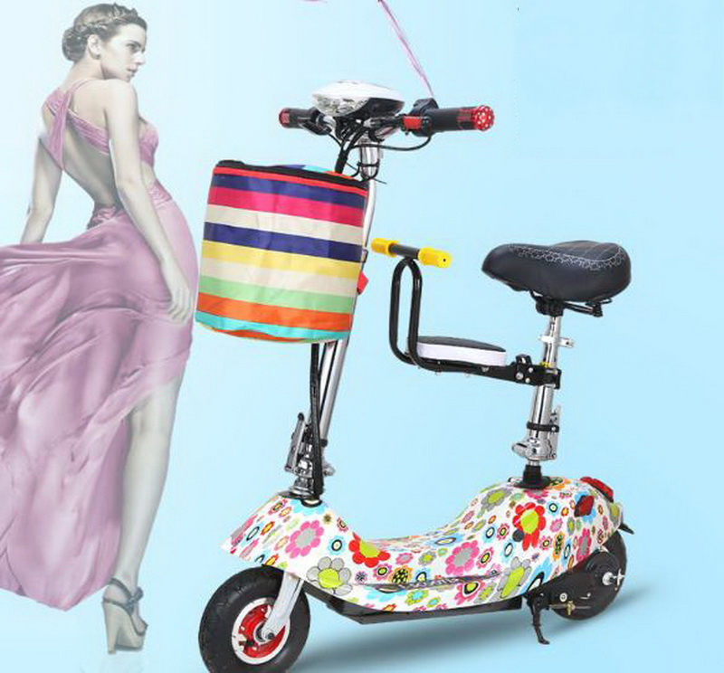 Clearance 261025/Ladies mini folding car bicycle scooter adult student portable two rounds/Scrub pedal 30-50km/h velo electrique 0