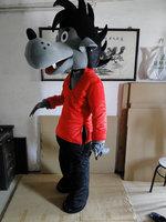 Горячая Распродажа костюм талисмана, талисман Большой плохой волк костюм талисмана Косплэй