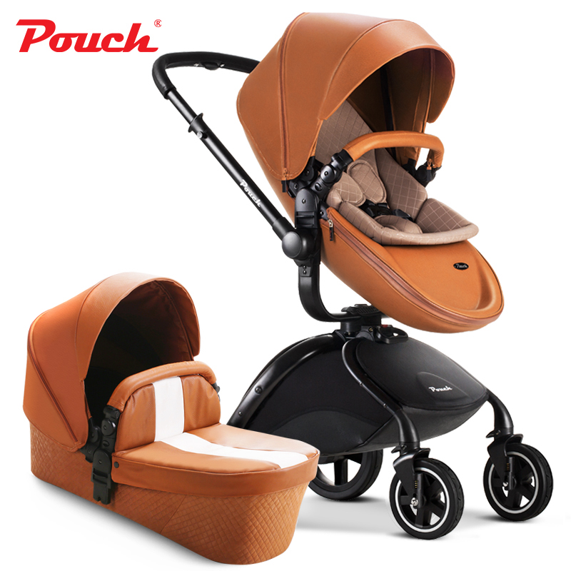 Brand Pouch Baby Stroller, 4 Colors Available, Luxury Baby Prams 2 in 1 Cart zipit пенал colors pouch цвет мультиколор zt cz stri