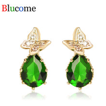 Turkish Jewelry Green Heart Earrings Vintage Long Pendientes Max Brincos Pendant Princess Hooks Drop Earring Women Gifts(China)
